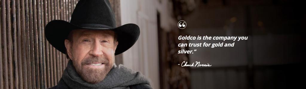 Chuck Norris, Celebrity Spokesperson for Goldco Precious Metals