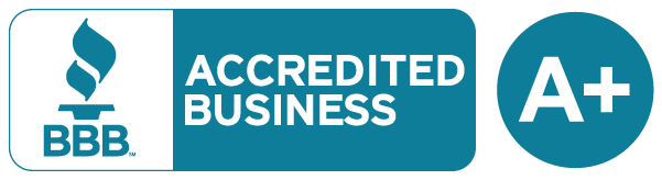 Our company is BBB Accredited with an A+ Rating